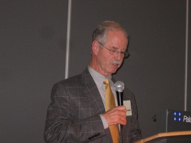 Kirk Endicott speaking at a conference in 2011