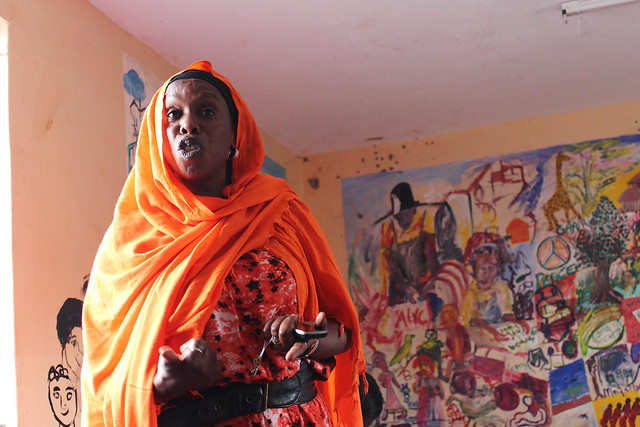 A Nubian in Kenya participates in a discussion about land ownership (Photo by USAID on Flickr, Creative Commons license)