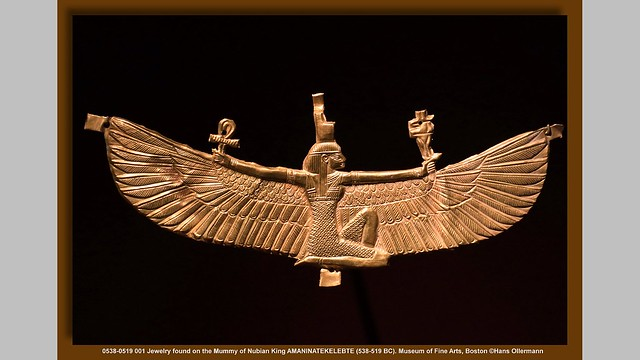 Nubian jewelry piece in the Museum of Fine Arts, Boston (Photo by Hans Ollermann in Flickr, Creative Commons license)