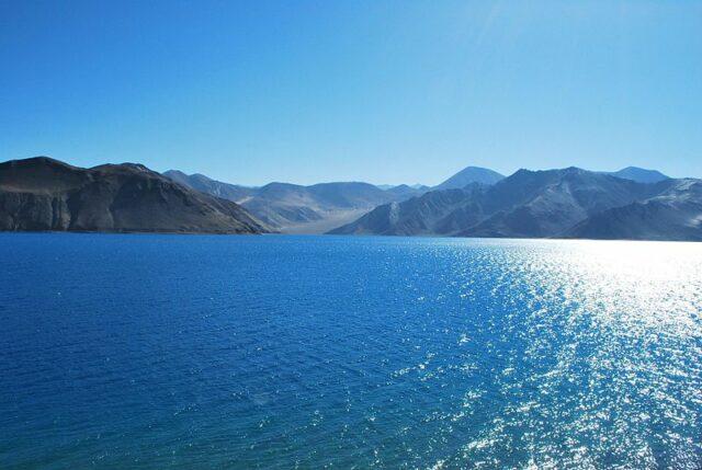 Pangong Lake in Eastern Ladakh (Photo by Kamaljith K V in Wikimedia, Creative Commons license)
