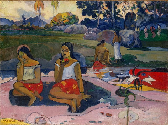 Two Tahitian women painted by Paul Gauguin (Photo by Gandalf's Gallery on Flickr, Creative Commons license)