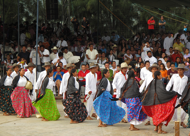 Dancers from Miahuatlan during a Guelaguetza celebration